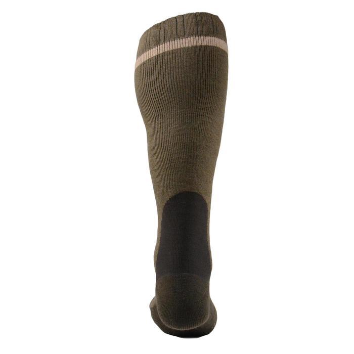 Calcetines caza Winter largo x 2 marrón