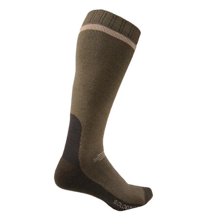 HUNTING WARM HIGH SOCKS 500 - GREEN