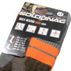 Sokken Max-Warm 500 high bruin - 140280