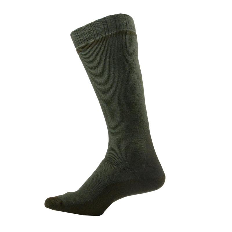 Winter high hunting sock x 2 - brown