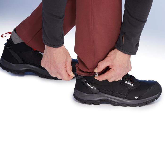SH500 Men's x-warm stretch black snow hiking trousers. - 1410965