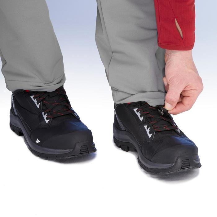 SH500 Men's x-warm stretch black snow hiking trousers. - 1410970