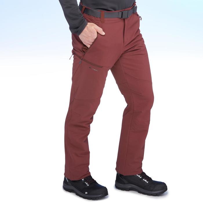 SH500 Men's x-warm stretch black snow hiking trousers. - 1410980