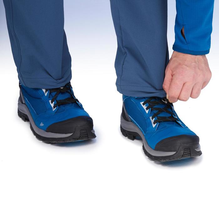 Pantalón de senderismo nieve hombre SH500 x-warm stretch azul.