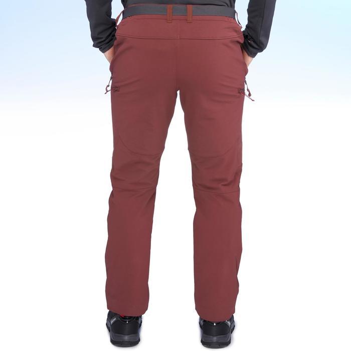 SH500 Men's x-warm stretch black snow hiking trousers. - 1411000