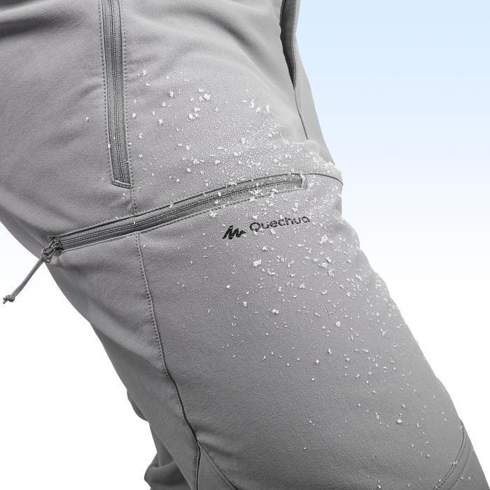 SH500 Men's x-warm stretch black snow hiking trousers. - 1411011