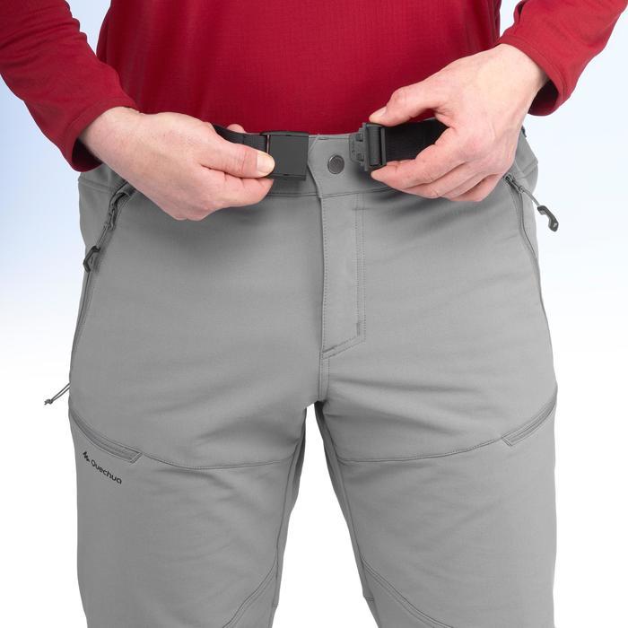 SH500 Men's x-warm stretch black snow hiking trousers. - 1411015