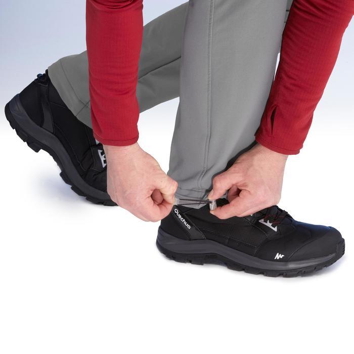 SH500 Men's x-warm stretch black snow hiking trousers. - 1411023