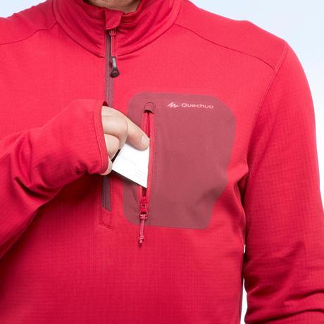 577c925c291b8 Tee-shirt de randonnée neige manches longues homme SH500 warm rouge.  Previous. Next