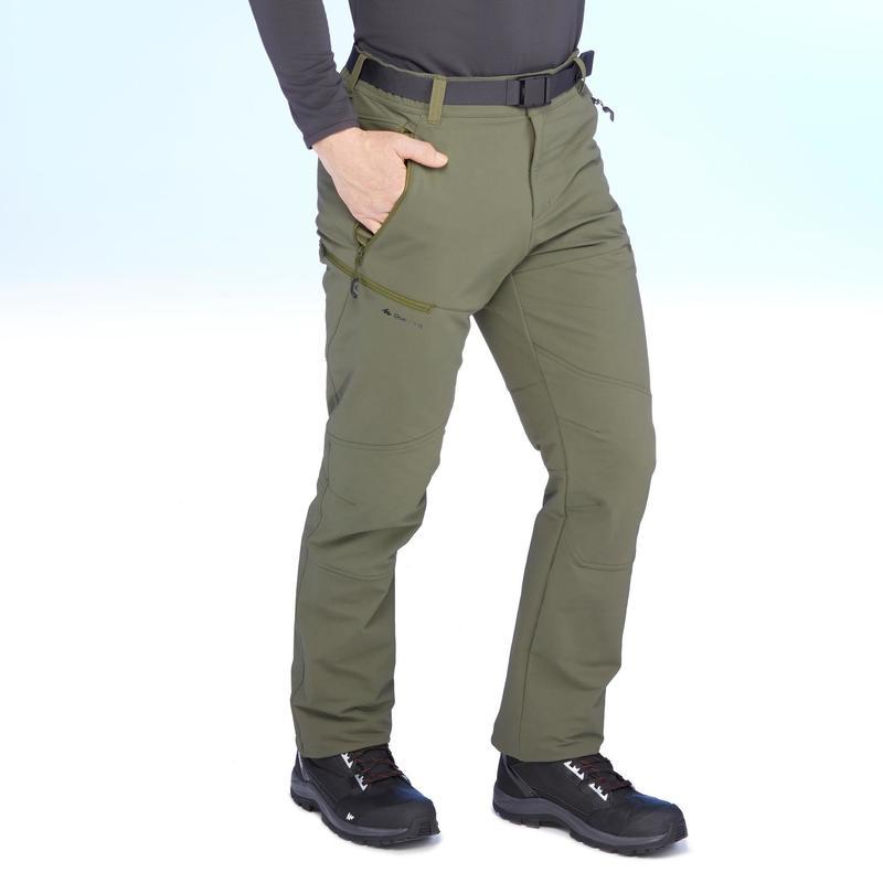 Pantalon de randonnée neige homme SH500 x-warm stretch kaki.   Quechua 9a70f1fdd706