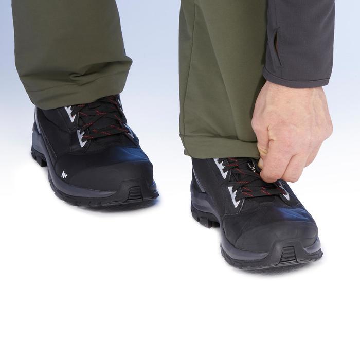 Herenbroek voor hikes in de sneeuw SH500 X-Warm stretch kaki