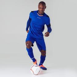 Chaussure de football adulte terrain dur Agility 500 HG bleue & orange