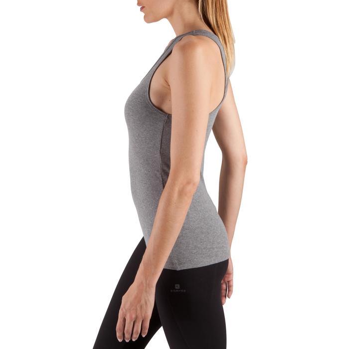 Débardeur 500 Pilates Gym douce femme gris chiné