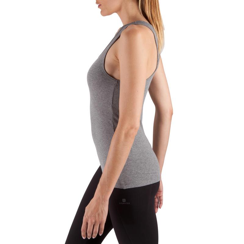 Women's Gym & Pilates Tank Top - Mottled Grey