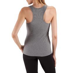 Camiseta Sin Mangas Tirantes Gimnasia Pilates Domyos 500 Mujer Gris
