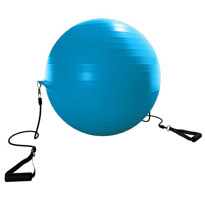 SWISS BALL 120 PILATES MEDIUM + ELASTIQUES - 1411155