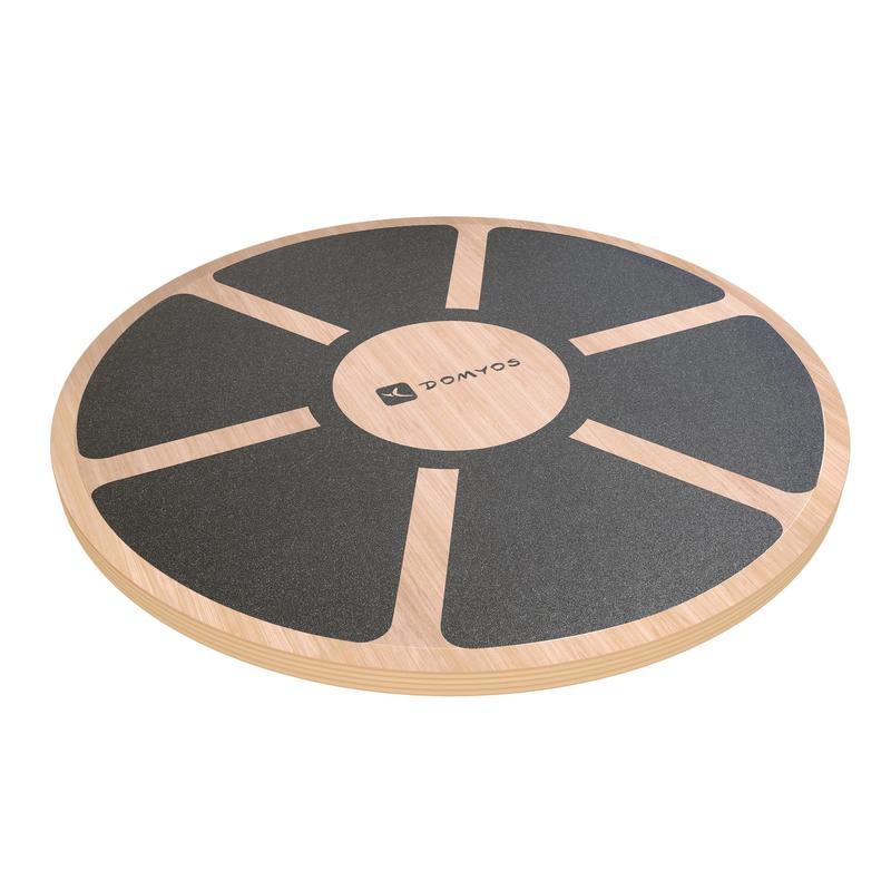PLANCHE D'EQUILIBRE BALANCE BOARD BOIS /Diamètre 39,5cm Hauteur 7,5cm