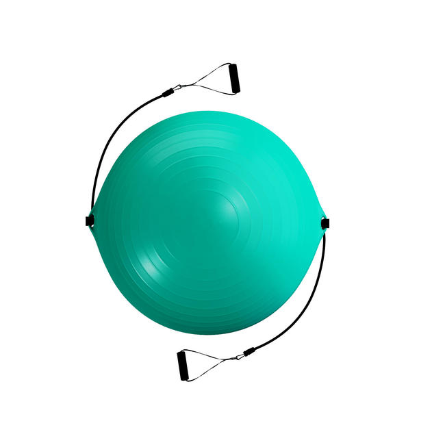 SWISS BALL WITH ELASTIC HANDLE