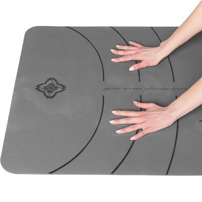 colchoneta 5 mm yoga dinámico domyos estudio gris