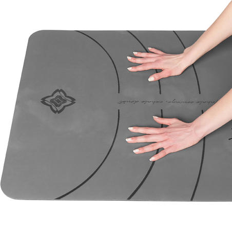 Matras Yoga Dinamis Sesi Studio 5 mm - Abu-abu