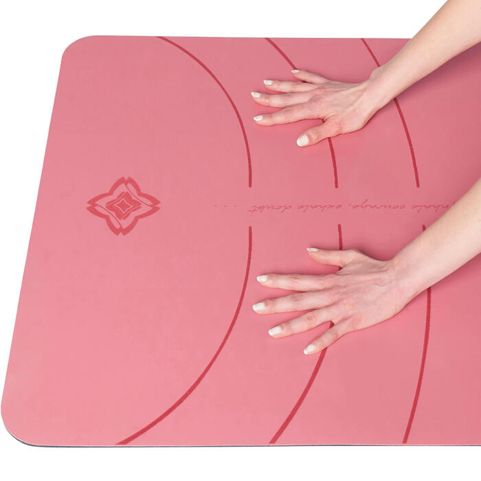 TAPIS YOGA DYNAMIQUE GRIP+ 5 MM ROSE