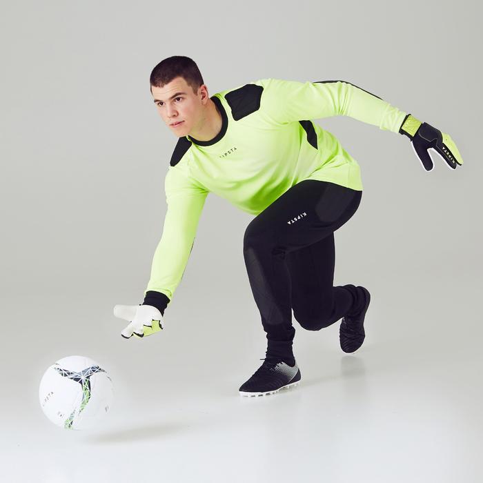Gant de gardien de football adulte F100 noir jaune