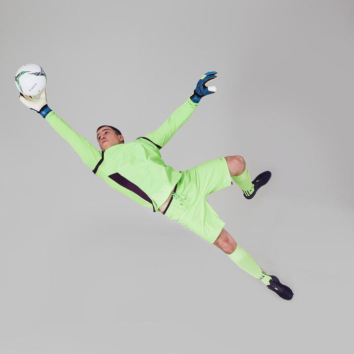 Gant de gardien de football adulte F900  adulte bleu jaune - 1411257