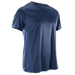 T-shirt cardiofitness heren FTS120 grijs/blauw AOP 2