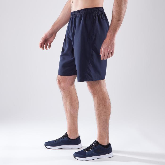 Sporthose kurz Cardio 120 Herren Fitness marineblau