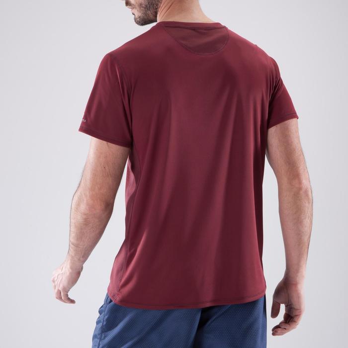 T-shirt fitness cardio homme noir imprimé FTS 120 - 1411333