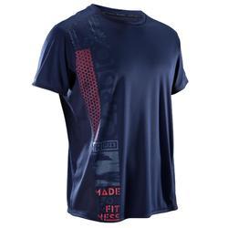 T-shirt cardiofitness heren FTS120 marine print