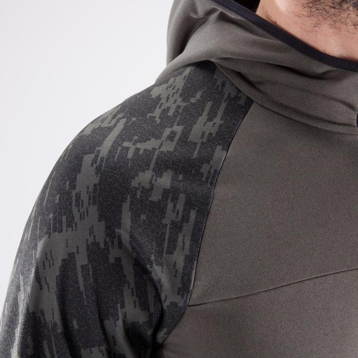 Sweater cardiofitness heren FSW500 kaki