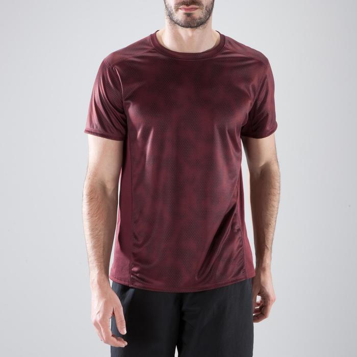 T-Shirt Cardio 120 Fitness Herren bordeaux