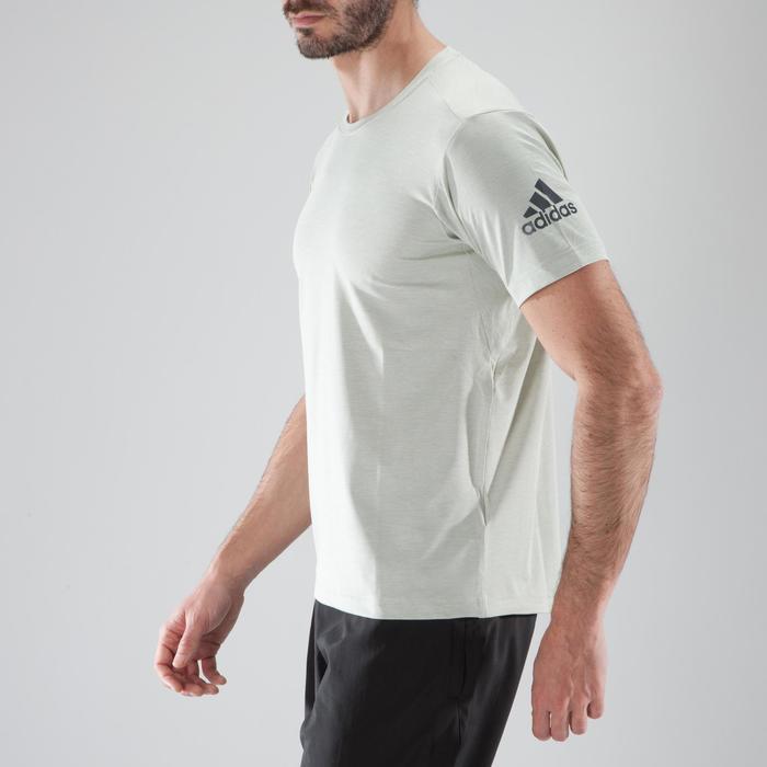 Camiseta de fitness cario-training hombre ADIDAS FREELIFT beige ... 89fb254dec40b