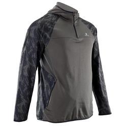 Sweat-shirt fitness cardio-training homme FSW500 kaki
