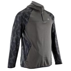Sweat-shirt fitness cardio-training homme FSW500 kaki