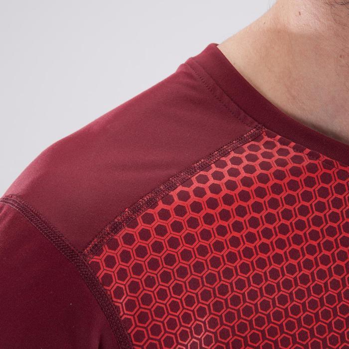 T-shirt fitness cardio homme noir imprimé FTS 120 - 1411395