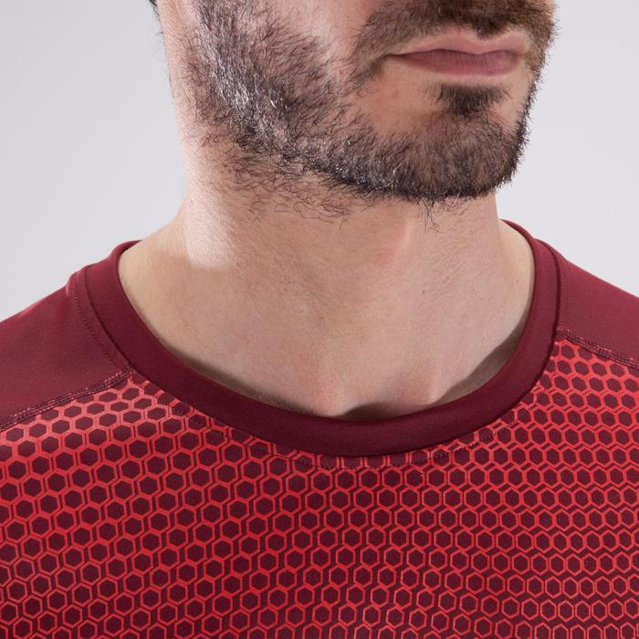 T-shirt fitness cardio homme noir imprimé FTS 120 - 1411400