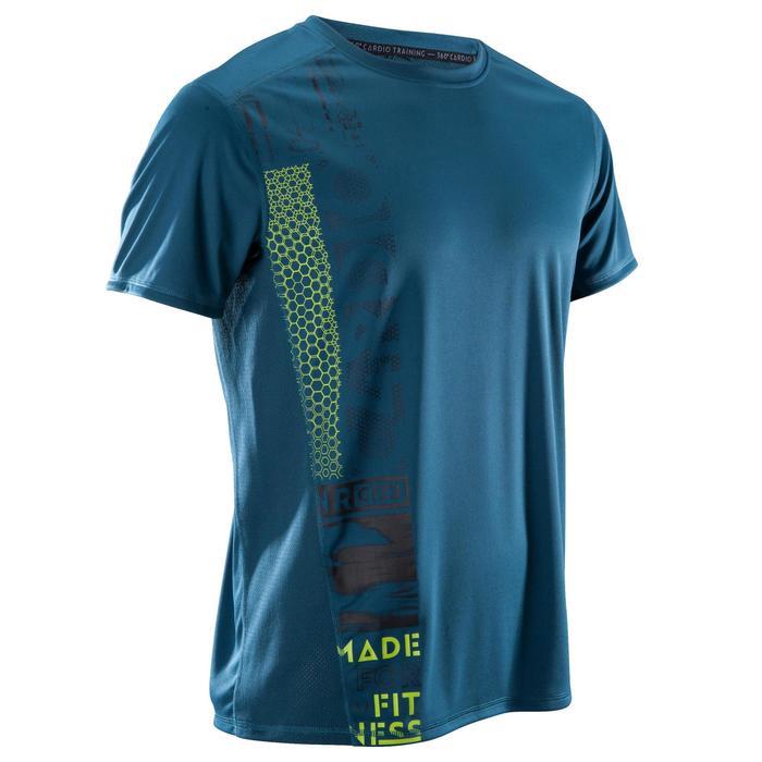 T-shirt fitness cardio homme noir imprimé FTS 120 - 1411413