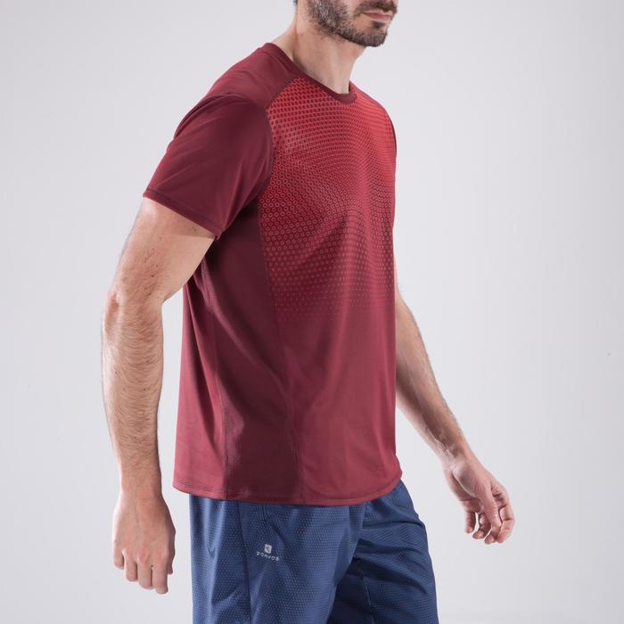 T-shirt fitness cardio homme noir imprimé FTS 120 - 1411414
