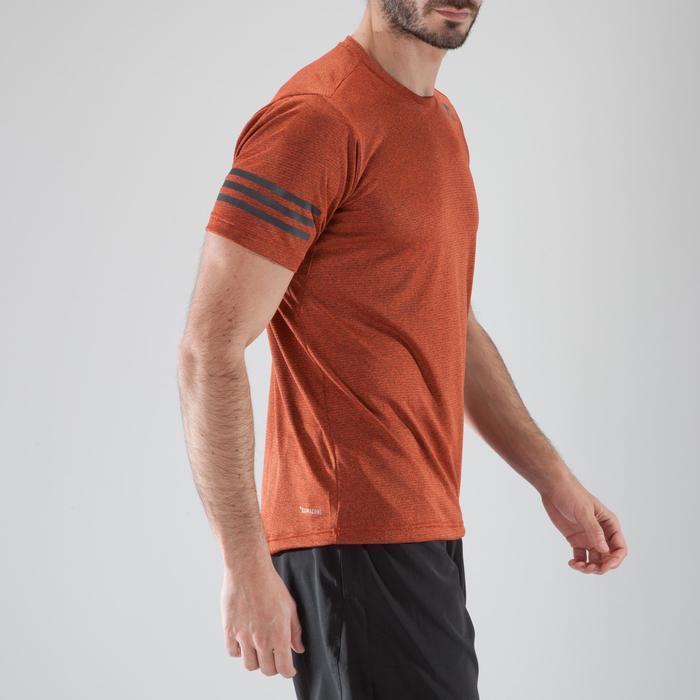 T-shirt fitness cardio-training homme FREE LIFT orange - 1411419