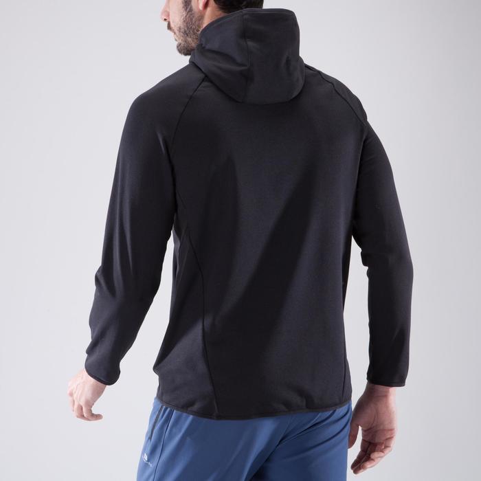 Sudadera fitness cardio-training hombre FSW500 negro Domyos  f9d5910b9085f