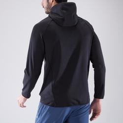 Sweatshirt FSW 500 Ausdauer Fitness Herren schwarz