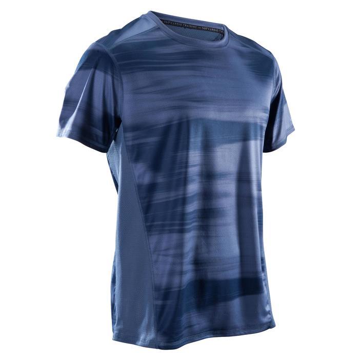 T-Shirt Cardio 120 Fitness Herren blau