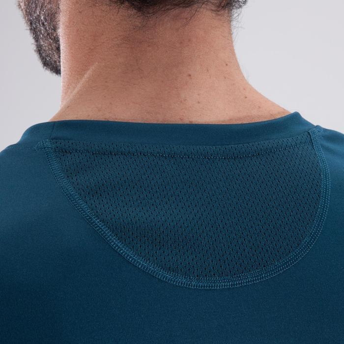 Camiseta de fitness cardio-training hombre FTS120 verde oscuro estampado