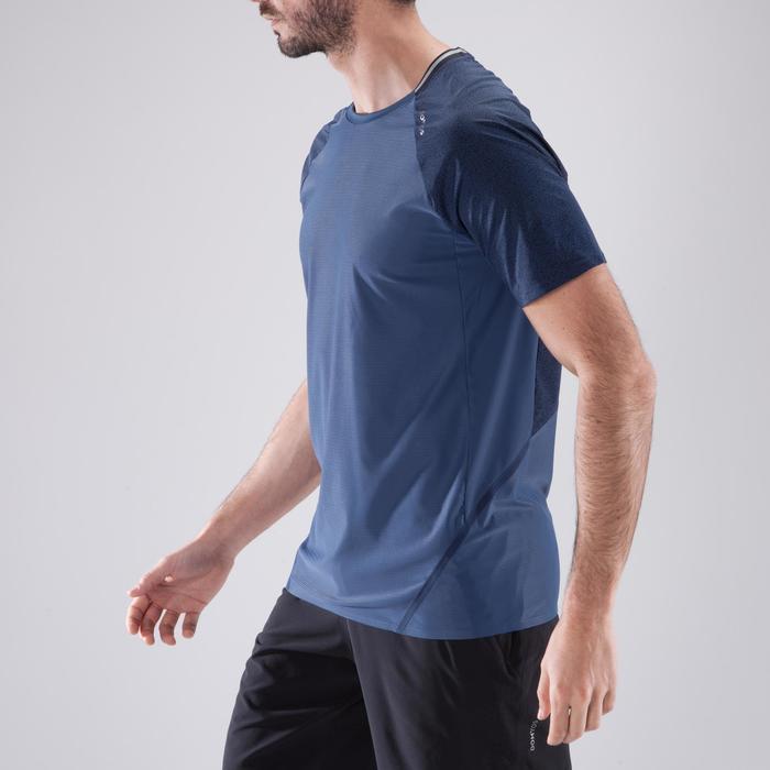 T-shirt fitness cardio heren FTS 920 blauw/grijs