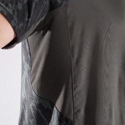 Camiseta fitness cardio-training hombre FTS500 caqui negro