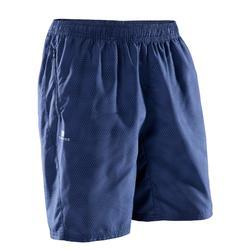 Sportbroekje fitness FST120 voor heren, blauw print