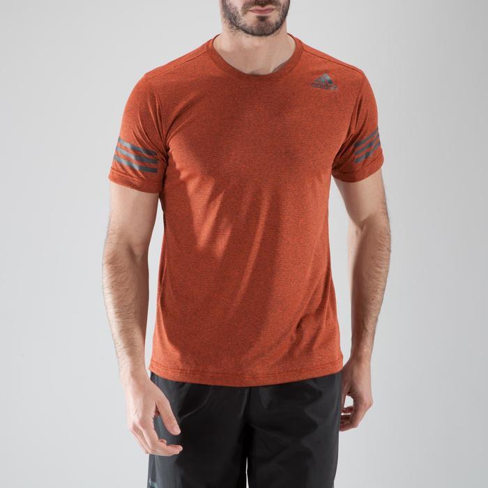 T-shirt fitness cardio-training homme FREE LIFT orange - 1411458