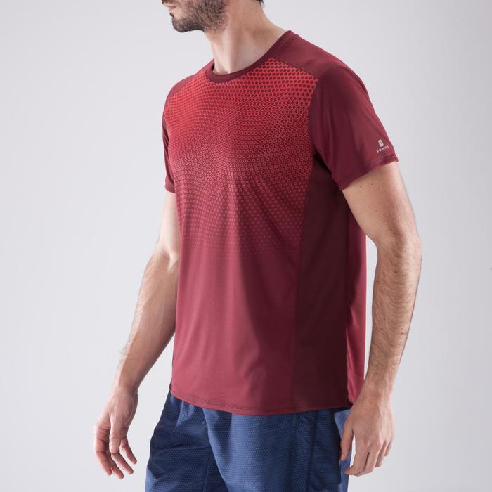 T-shirt fitness cardio homme noir imprimé FTS 120 - 1411462